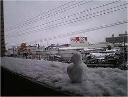 ミニ雪だるま