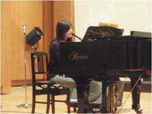 遥奈さんの練習風景